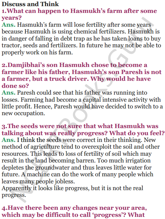 NCERT Solutions for Class 5 EVS Chapter 19 A Seed Tells A Farmers Story 4