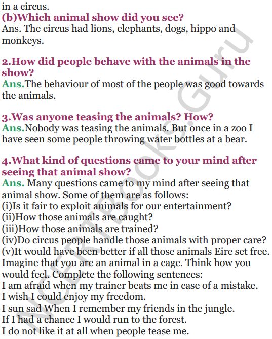 NCERT Solutions for Class 5 EVS Chapter 2 A Snake Charmer's Story 2