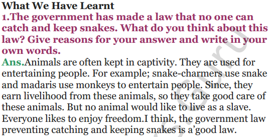 NCERT Solutions for Class 5 EVS Chapter 2 A Snake Charmer's Story 4