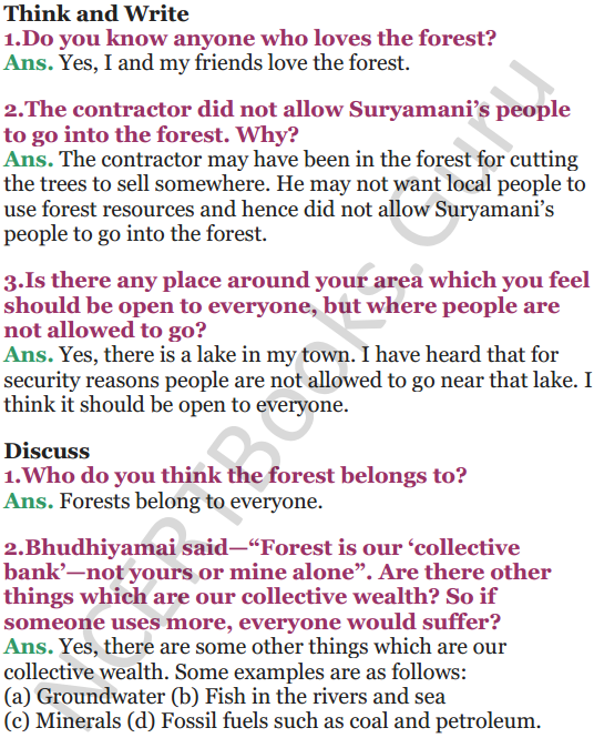 NCERT Solutions for Class 5 EVS Chapter 20 Whose Forests 2