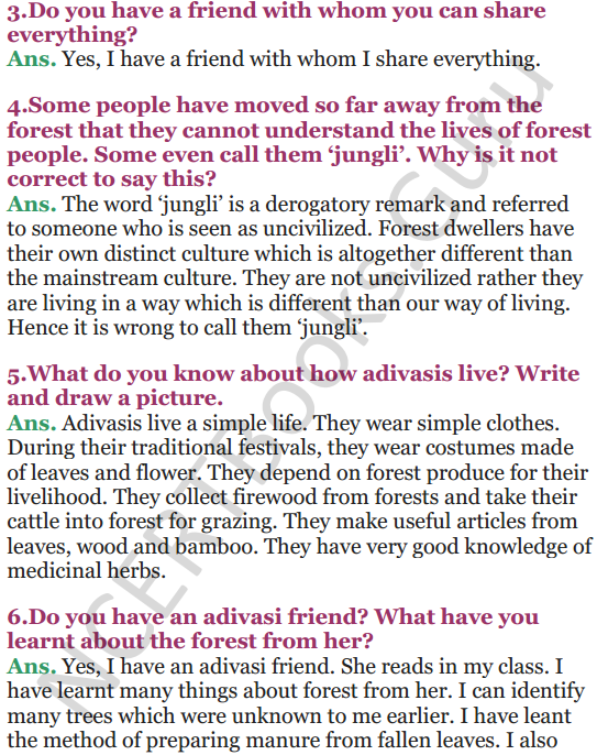 NCERT Solutions for Class 5 EVS Chapter 20 Whose Forests 3