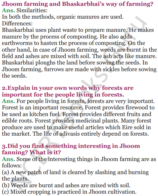 NCERT Solutions for Class 5 EVS Chapter 20 Whose Forests 8