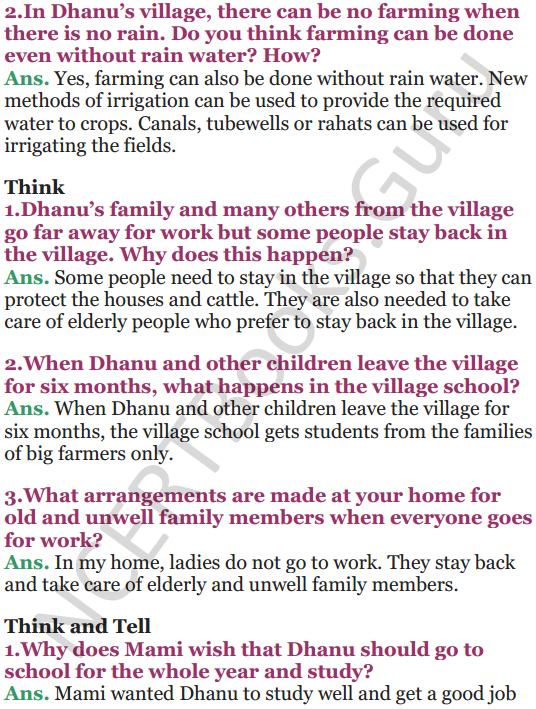 NCERT Solutions for Class 5 EVS Chapter 22 On The Move Again 2