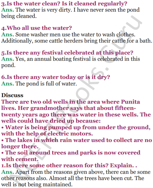 NCERT Solutions for Class 5 EVS Chapter 6 Every Drop Counts 3