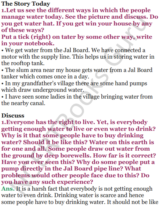 NCERT Solutions for Class 5 EVS Chapter 6 Every Drop Counts 4
