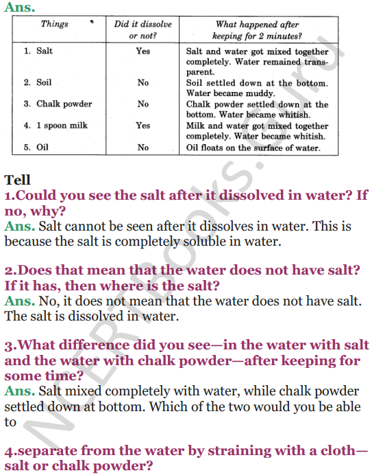 NCERT Solutions for Class 5 EVS Chapter 7 Experiments With Water 4