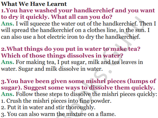NCERT Solutions for Class 5 EVS Chapter 7 Experiments With Water 6