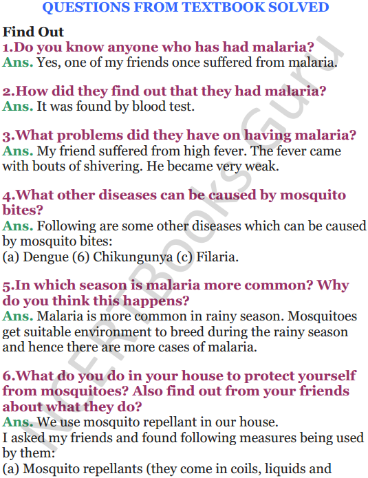 NCERT Solutions for Class 5 EVS Chapter 8 A Treat For Mosquitoes 1