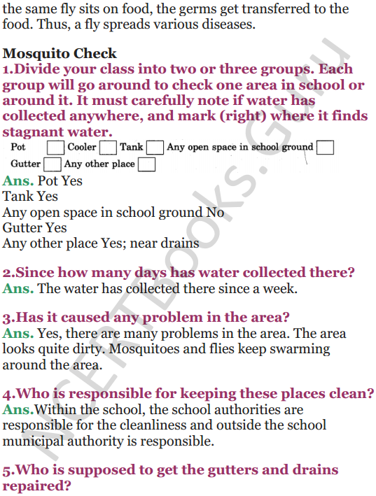 NCERT Solutions for Class 5 EVS Chapter 8 A Treat For Mosquitoes 5