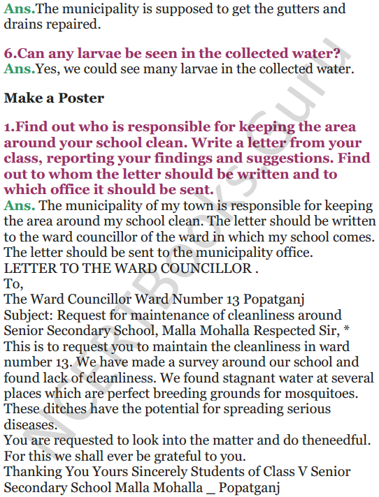 NCERT Solutions for Class 5 EVS Chapter 8 A Treat For Mosquitoes 6