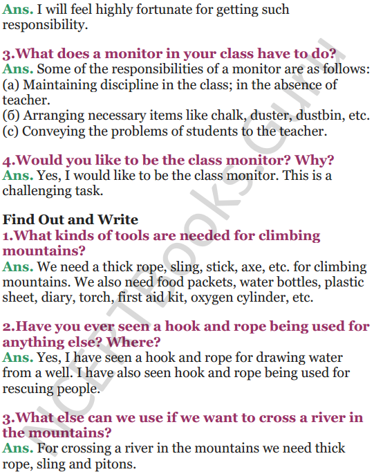 NCERT Solutions for Class 5 EVS Chapter 9 Up You Go 3