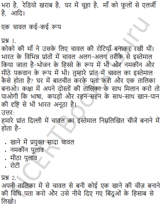 NCERT Solutions for Class 5 Hindi Chapter 11 चावल की रोटियां 3