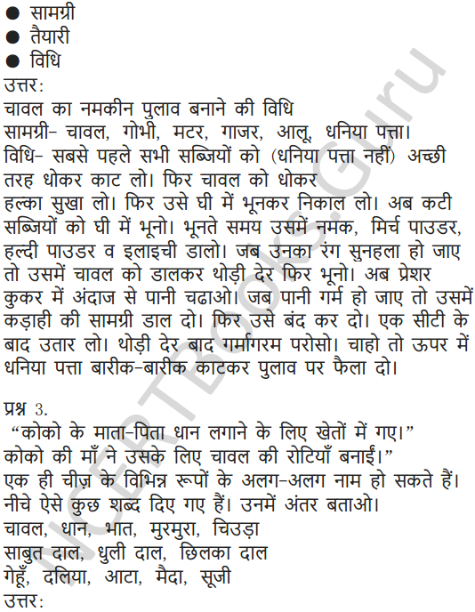 NCERT Solutions for Class 5 Hindi Chapter 11 चावल की रोटियां 4
