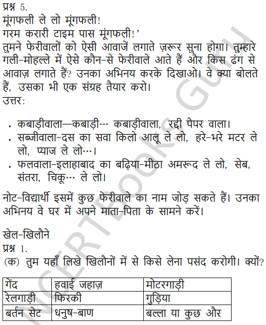 NCERT Solutions for Class 5 Hindi Chapter 3 खिलौनेवाला 3