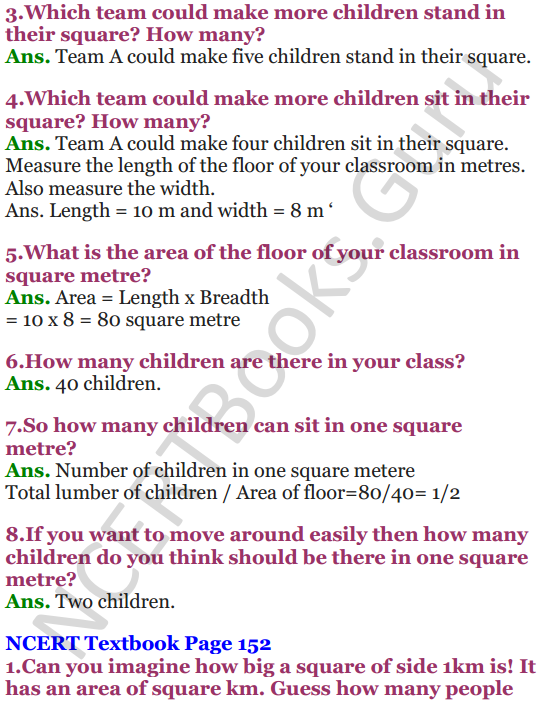 NCERT Solutions for Class 5 Maths Chapter 11 Area and Its Boundary 11