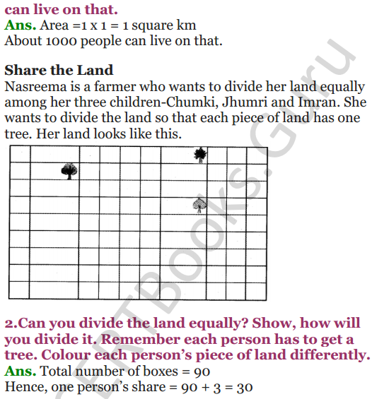 NCERT Solutions for Class 5 Maths Chapter 11 Area and Its Boundary 12