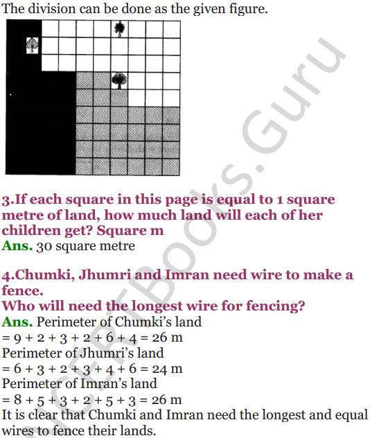 NCERT Solutions for Class 5 Maths Chapter 11 Area and Its Boundary 13