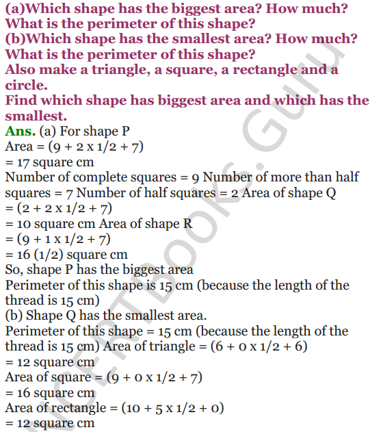 NCERT Solutions for Class 5 Maths Chapter 11 Area and Its Boundary 16