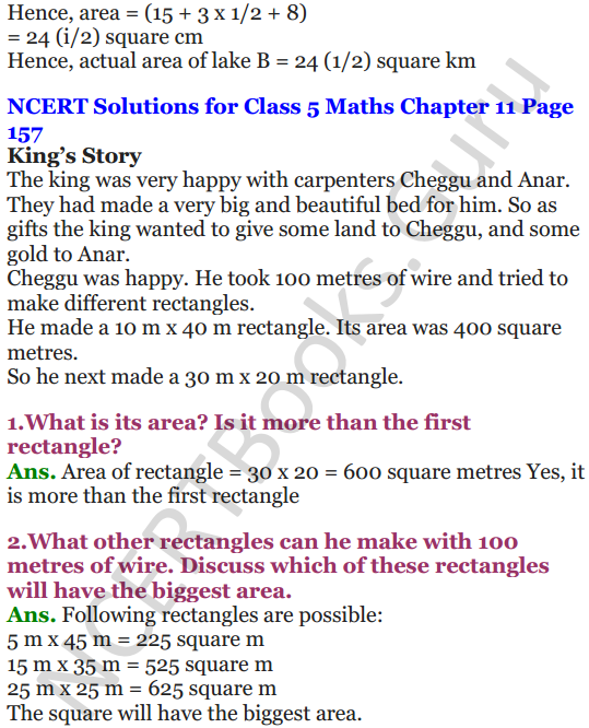 NCERT Solutions for Class 5 Maths Chapter 11 Area and Its Boundary 18