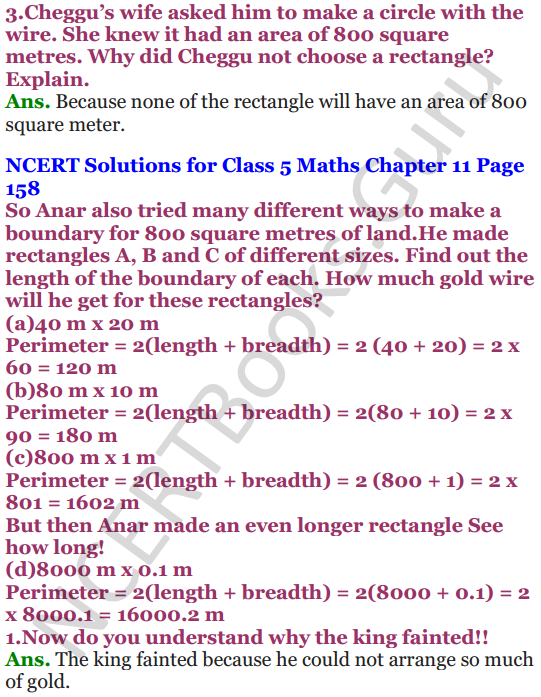NCERT Solutions for Class 5 Maths Chapter 11 Area and Its Boundary 19