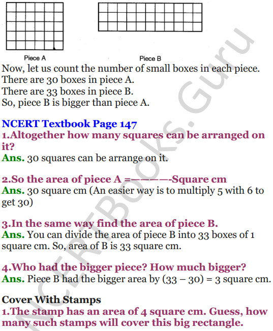 NCERT Solutions for Class 5 Maths Chapter 11 Area and Its Boundary 2