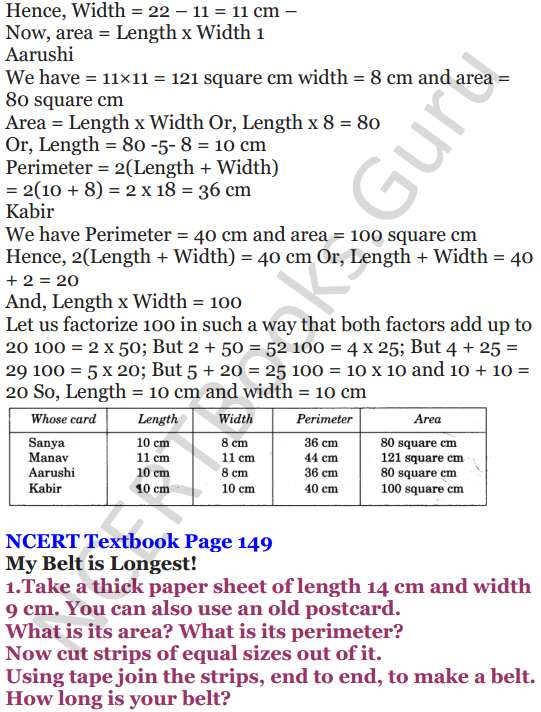 NCERT Solutions for Class 5 Maths Chapter 11 Area and Its Boundary 7