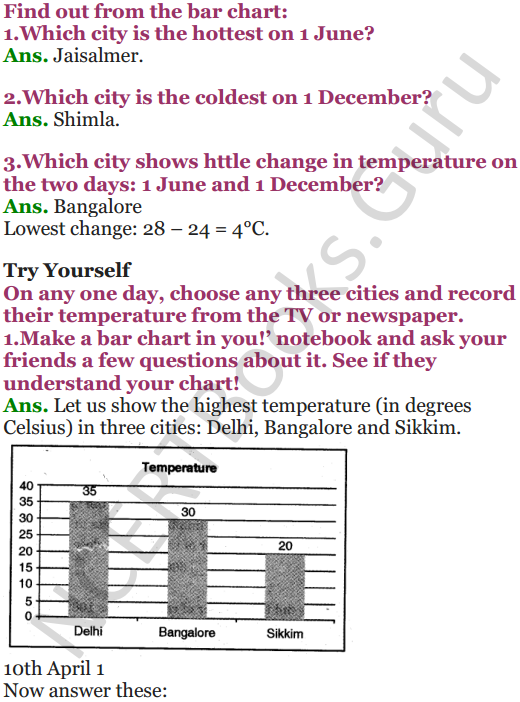 NCERT Solutions for Class 5 Maths Chapter 12 Smart Charts 8