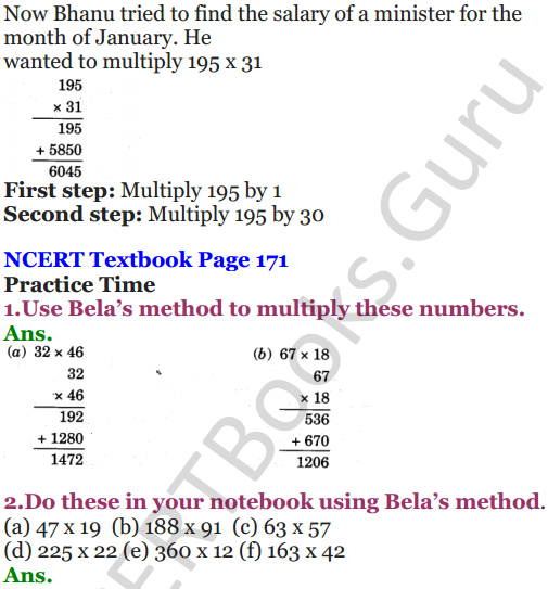 NCERT Solutions for Class 5 Maths Chapter 13 Ways To Multiply And Divide 2