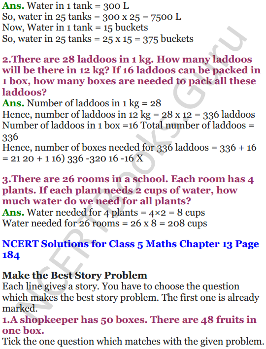 NCERT Solutions for Class 5 Maths Chapter 13 Ways To Multiply And Divide 25