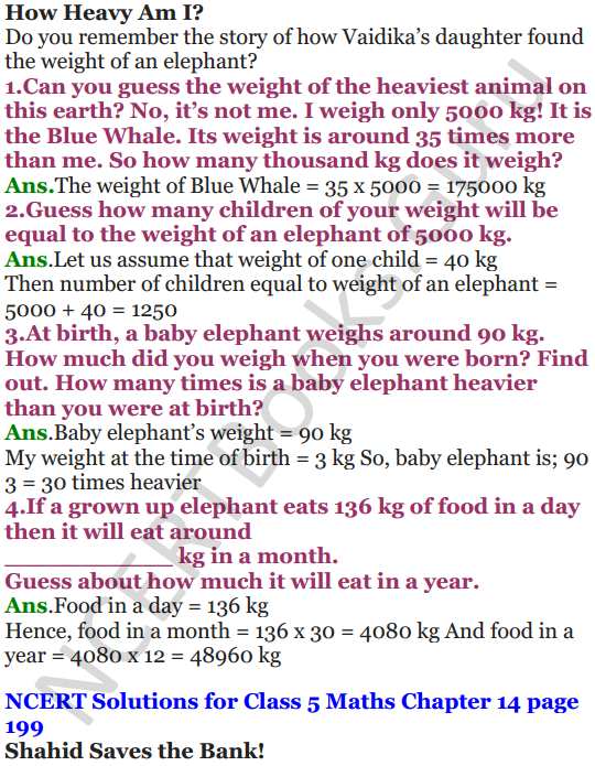 NCERT Solutions for Class 5 Maths Chapter 14 How Big How Heavy 12