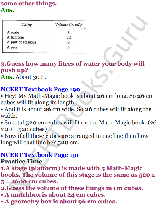 NCERT Solutions for Class 5 Maths Chapter 14 How Big How Heavy 3