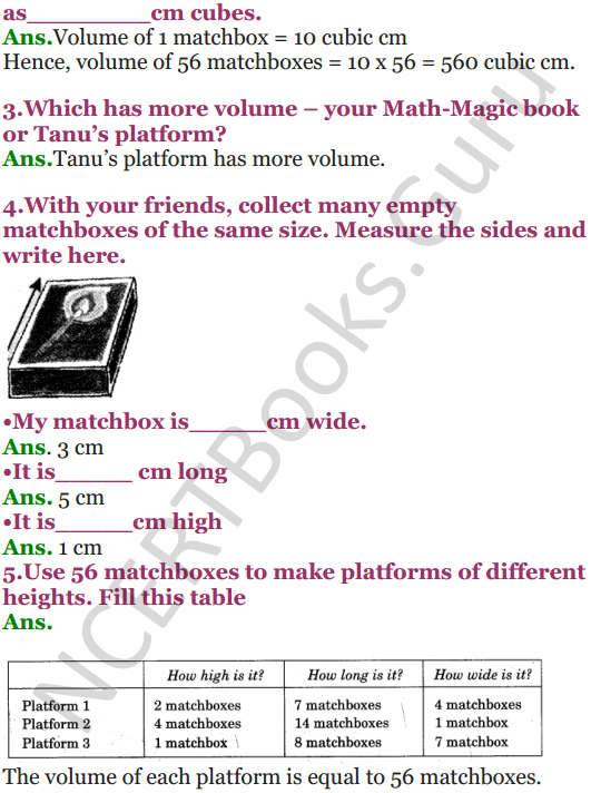 NCERT Solutions for Class 5 Maths Chapter 14 How Big How Heavy 5