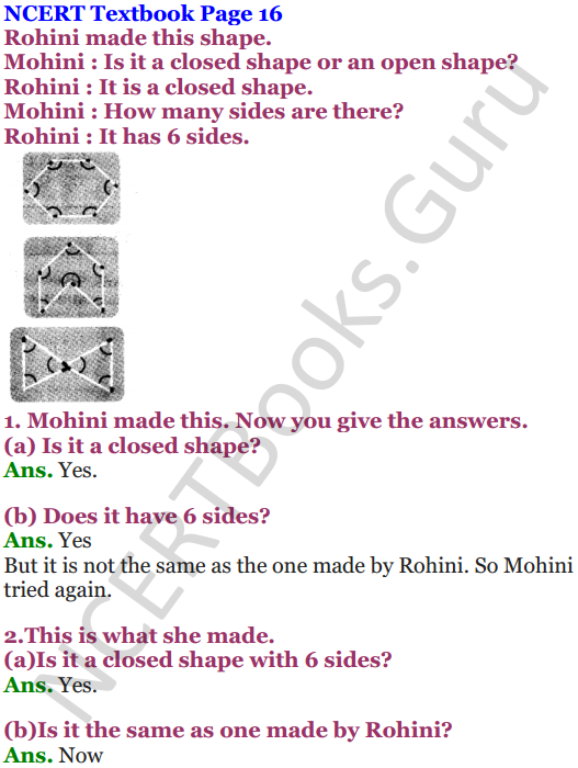NCERT Solutions for Class 5 Maths Chapter 2 Shapes And Angles 1