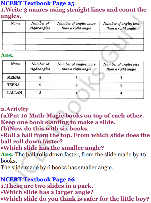 NCERT Solutions for Class 5 Maths Chapter 2 Shapes And Angles 11