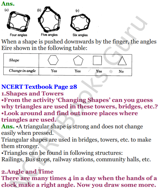 NCERT Solutions for Class 5 Maths Chapter 2 Shapes And Angles 13