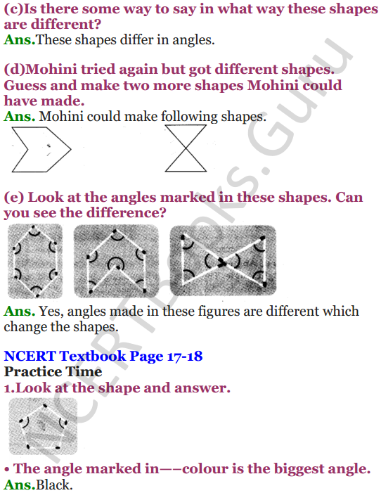 NCERT Solutions for Class 5 Maths Chapter 2 Shapes And Angles 2
