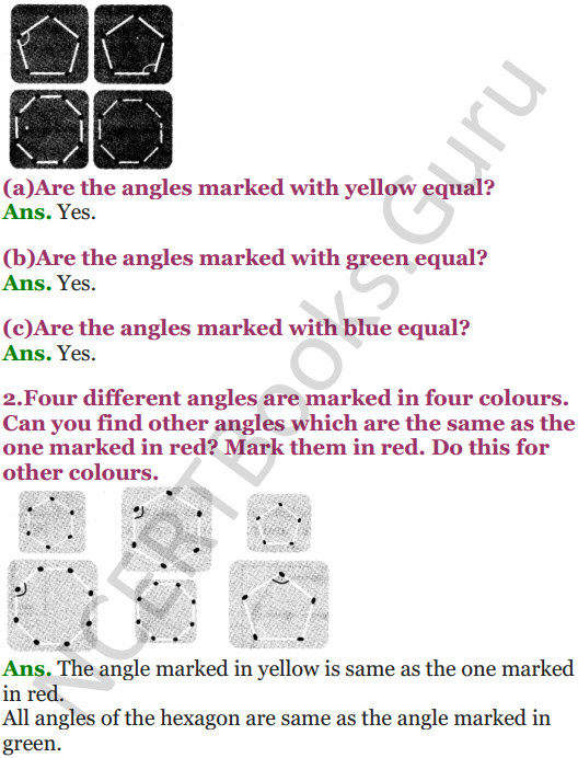NCERT Solutions for Class 5 Maths Chapter 2 Shapes And Angles 3