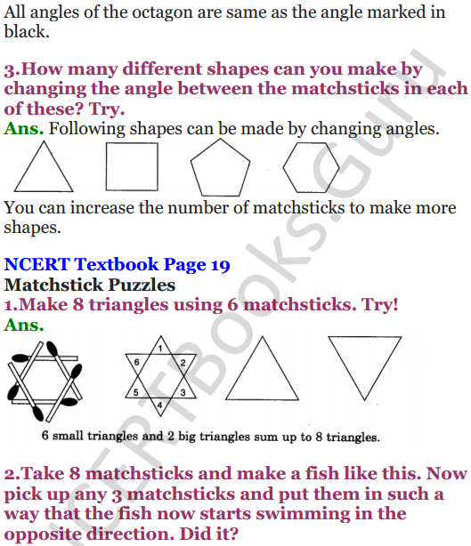 NCERT Solutions for Class 5 Maths Chapter 2 Shapes And Angles 4