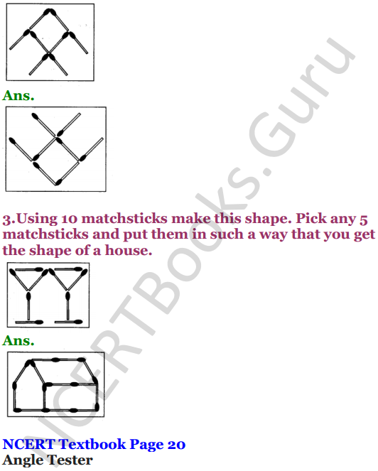 NCERT Solutions for Class 5 Maths Chapter 2 Shapes And Angles 5