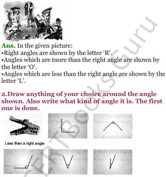 NCERT Solutions for Class 5 Maths Chapter 2 Shapes And Angles 7