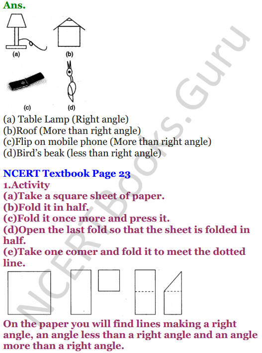 NCERT Solutions for Class 5 Maths Chapter 2 Shapes And Angles 8