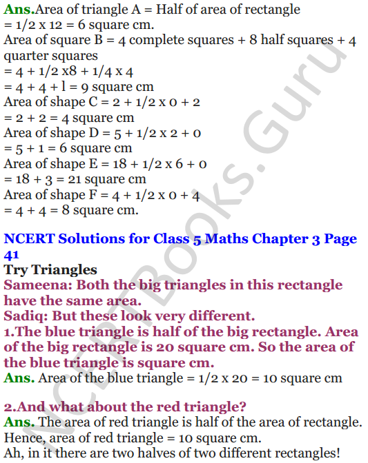 NCERT Solutions for Class 5 Maths Chapter 3 How Many Squares 10