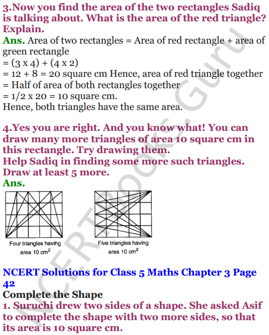 NCERT Solutions for Class 5 Maths Chapter 3 How Many Squares 11