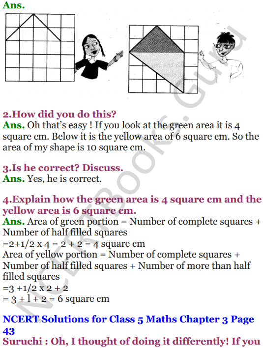 NCERT Solutions for Class 5 Maths Chapter 3 How Many Squares 12