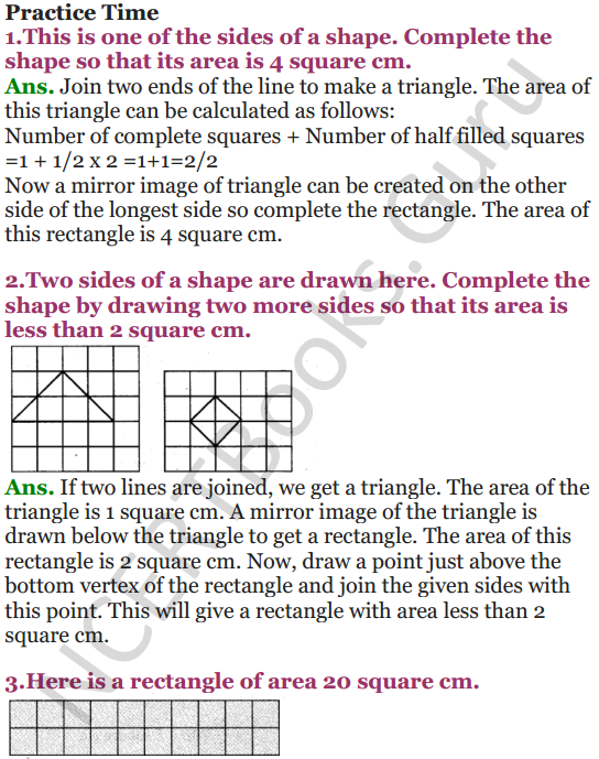 NCERT Solutions for Class 5 Maths Chapter 3 How Many Squares 14