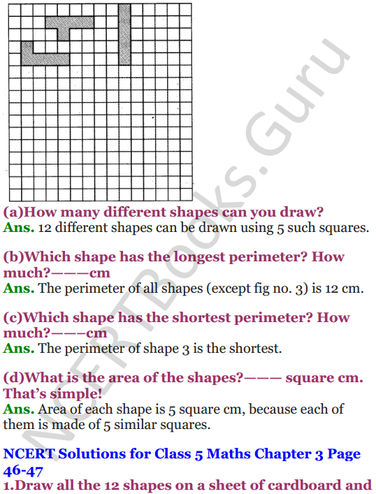 NCERT Solutions for Class 5 Maths Chapter 3 How Many Squares 17