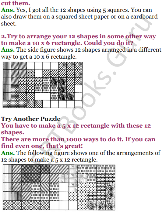 NCERT Solutions for Class 5 Maths Chapter 3 How Many Squares 18