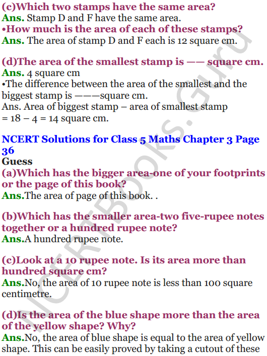 NCERT Solutions for Class 5 Maths Chapter 3 How Many Squares 4
