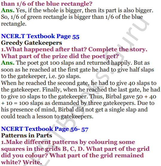 NCERT Solutions for Class 5 Maths Chapter 4 Parts And Wholes 10