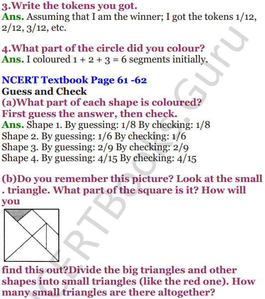 NCERT Solutions for Class 5 Maths Chapter 4 Parts And Wholes 14